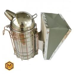 Καπνιστήρι Inox Round Δερματίνη Πλέγμα