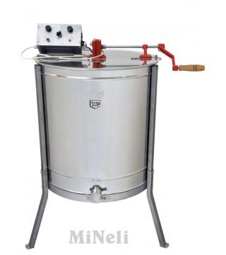 Μελιτοεξαγωγέας Ηλεκτρικός 6 πλαισίων Τριών Χρήσεων (3 σε 1) FULL INOX [AISI 304- 18/10]
