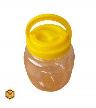 Δοχείο Πλαστκό 3 Κιλών - Κίτρινο Καπάκι